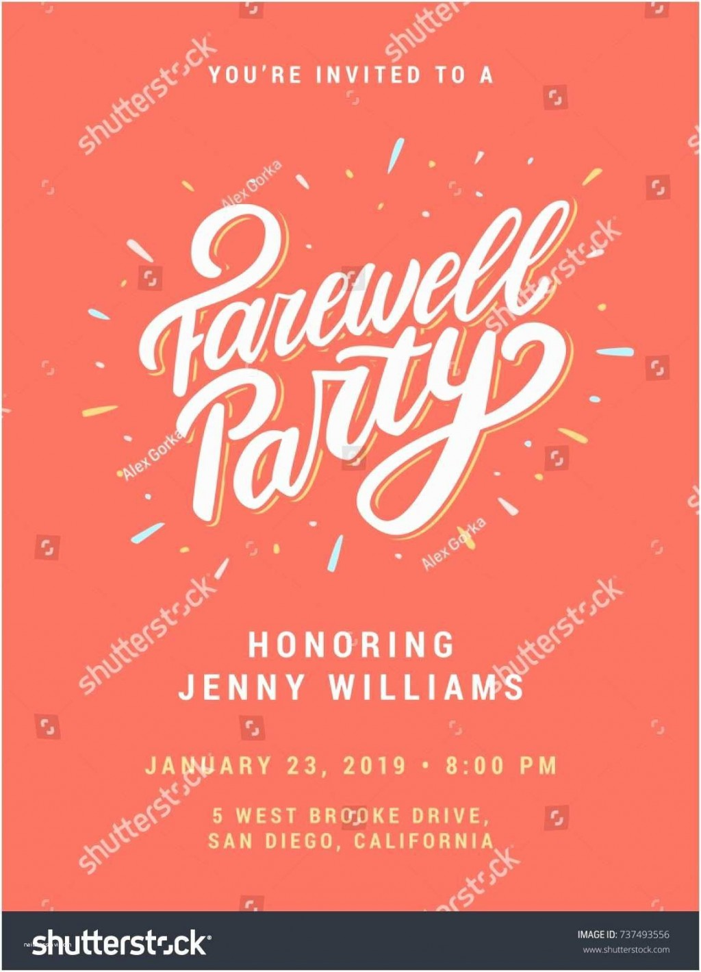 007 Beautiful Farewell Party Invitation Template Free Sample  Email Printable WordLarge