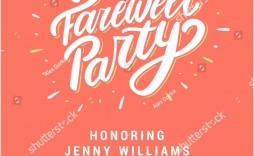 007 Beautiful Farewell Party Invitation Template Free Sample  Email Printable Word