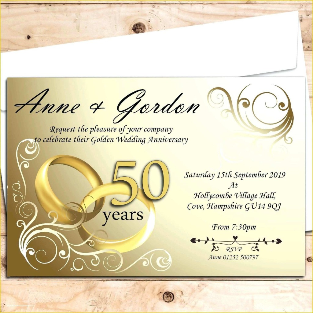 007 Beautiful Free 50th Anniversary Invitation Template For Word Highest Quality Large