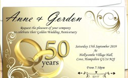 007 Beautiful Free 50th Anniversary Invitation Template For Word Highest Quality