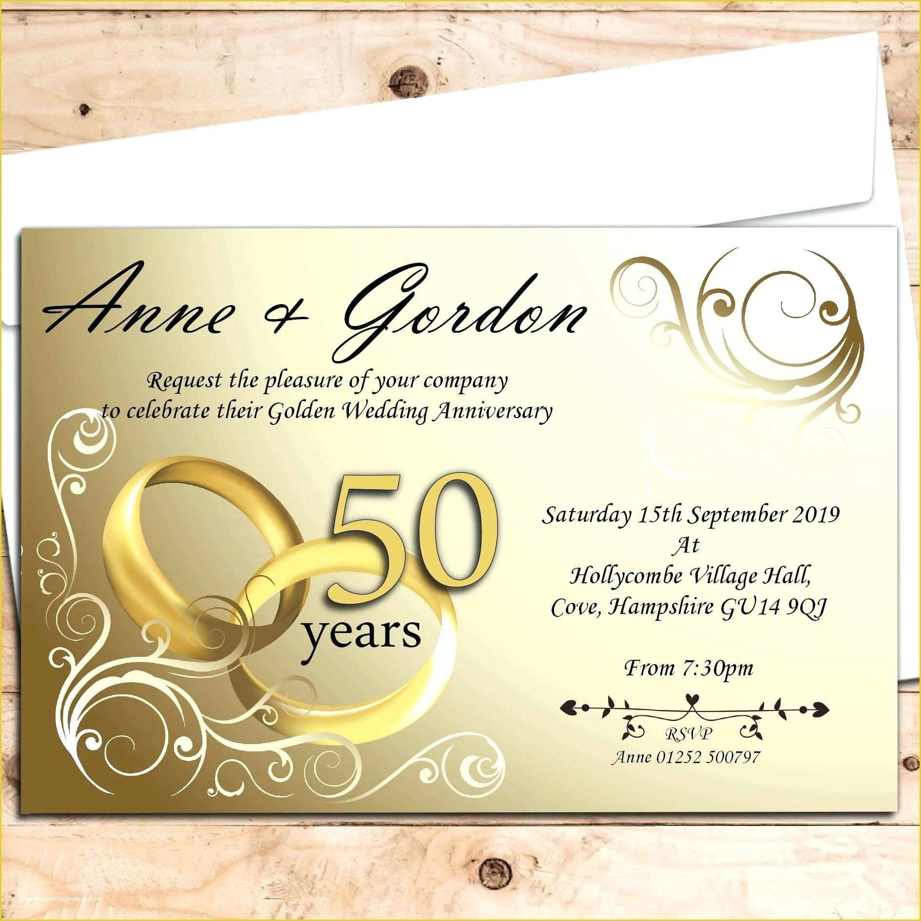 007 Beautiful Free 50th Anniversary Invitation Template For Word Highest Quality Full