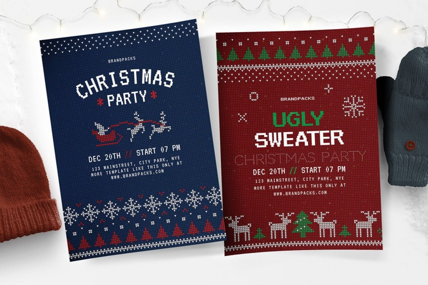 007 Beautiful Free Christma Poster Template Concept  Uk Party Download Fair868