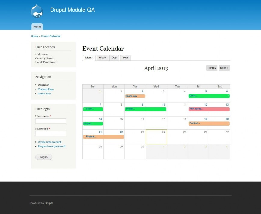 007 Beautiful Free Event Calendar Template Highest Quality  Html For Website Annual