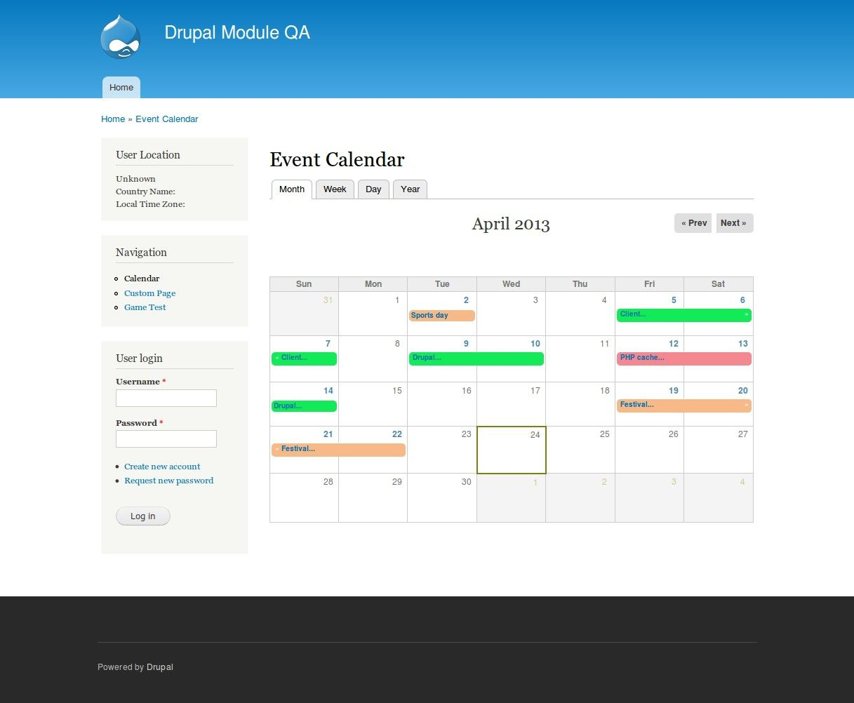 007 Beautiful Free Event Calendar Template Highest Quality  Html For WebsiteFull