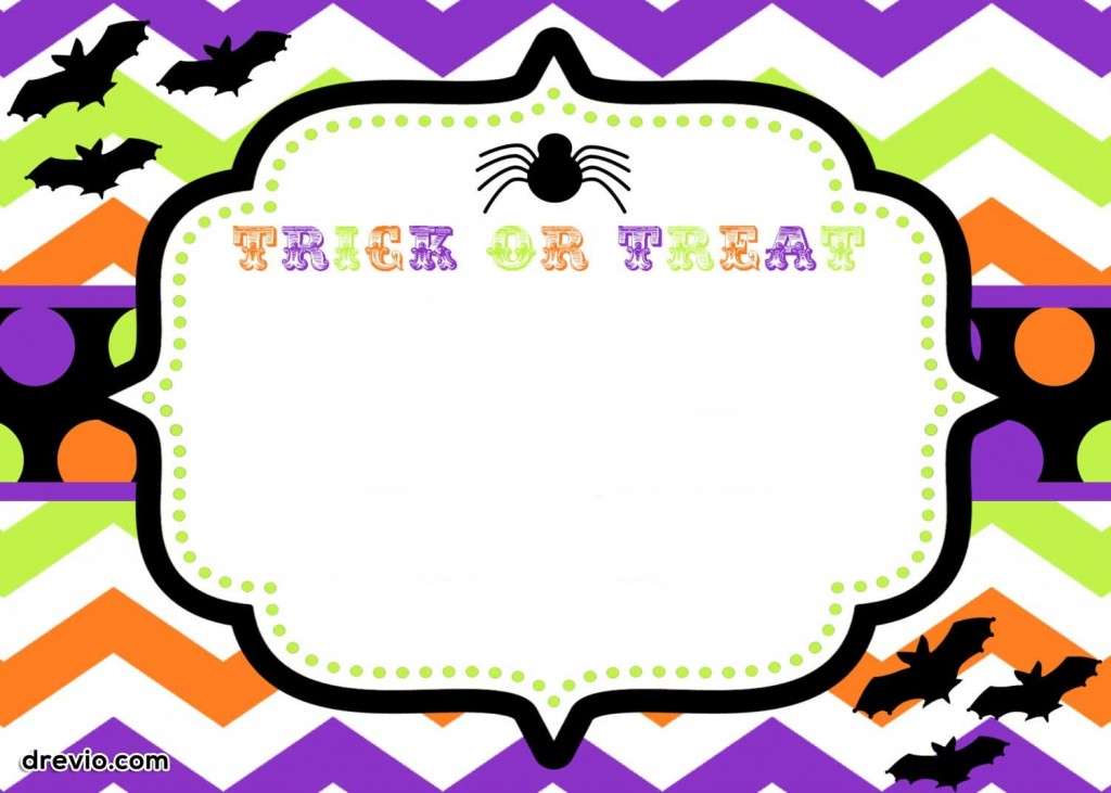 007 Beautiful Free Halloween Invite Template Concept  Templates Party Invitation For WordLarge