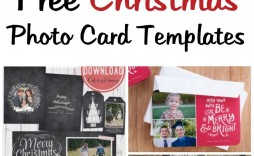 007 Beautiful Free Photo Christma Card Template Concept  Templates For Photoshop Online