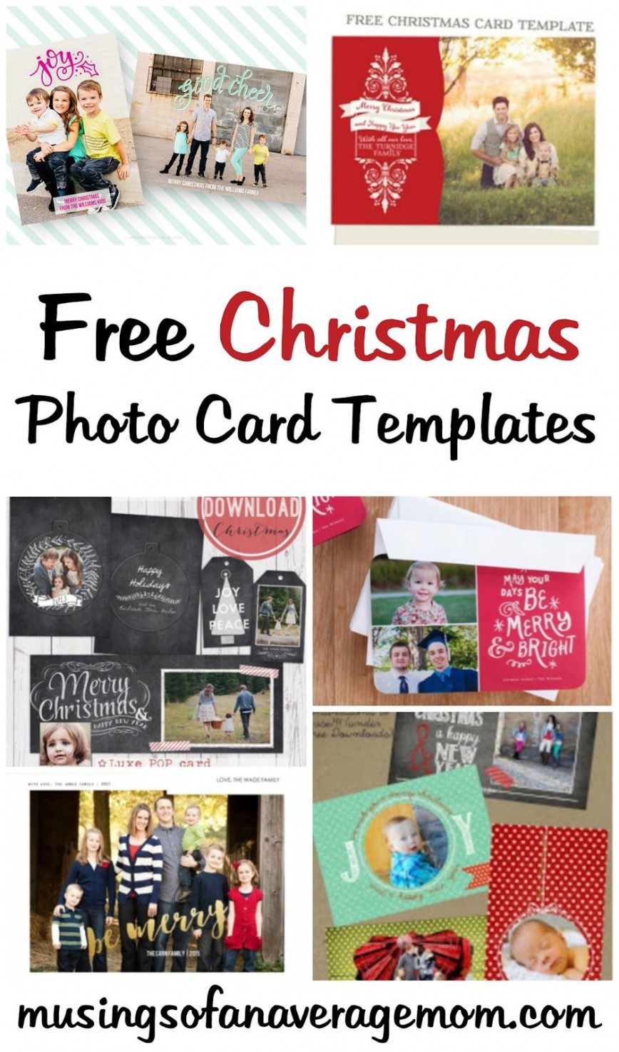 007 Beautiful Free Photo Christma Card Template Concept  Templates For Word Photoshop Digital