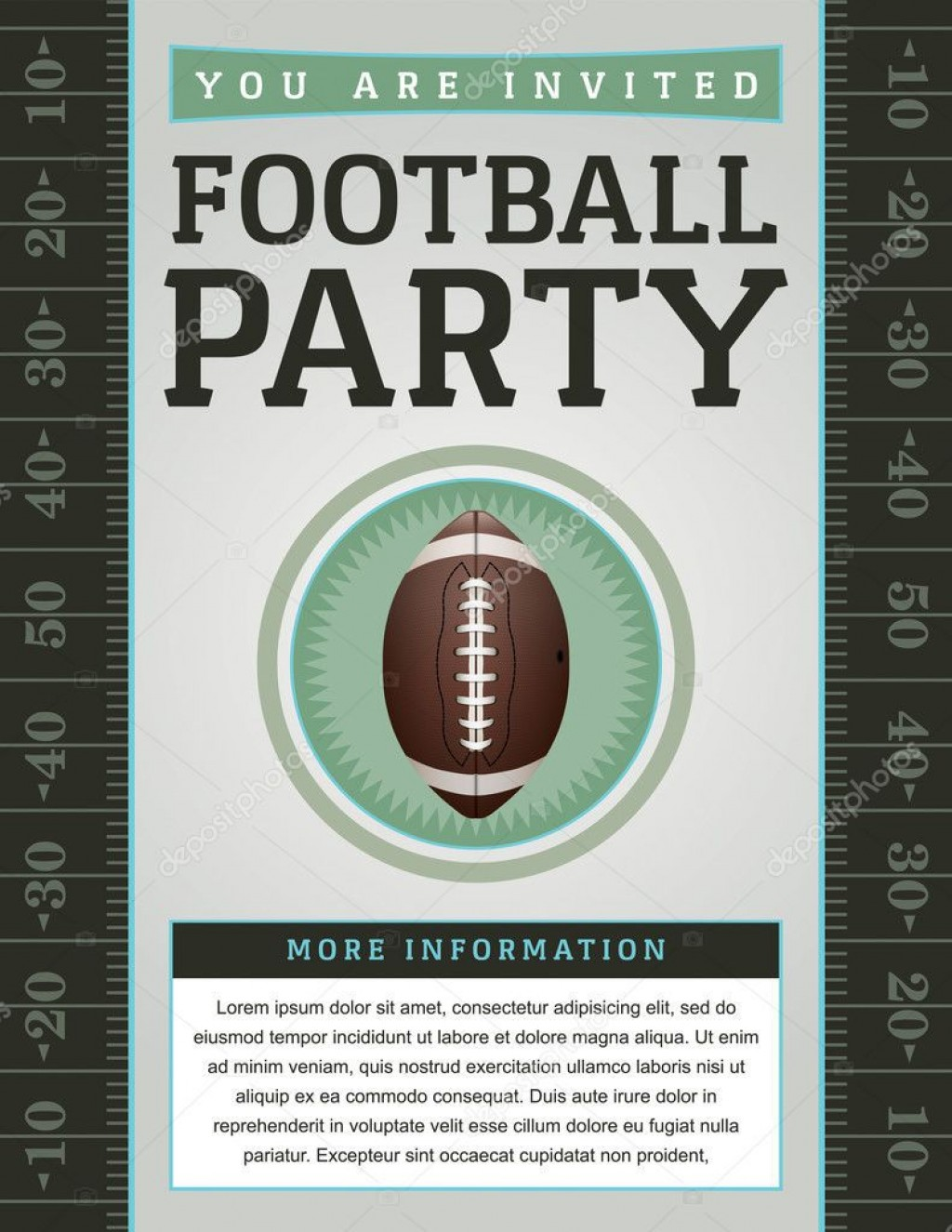 007 Beautiful Free Tailgate Party Flyer Template Download Photo Large