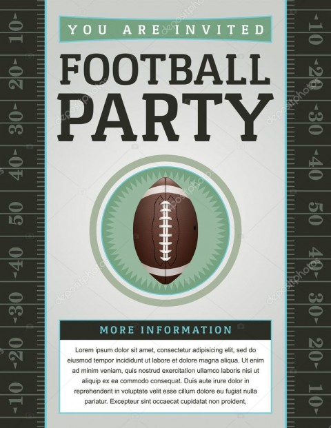 007 Beautiful Free Tailgate Party Flyer Template Download Photo 480