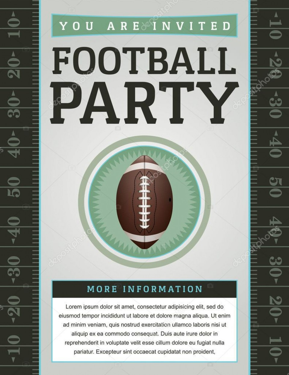 007 Beautiful Free Tailgate Party Flyer Template Download Photo 960