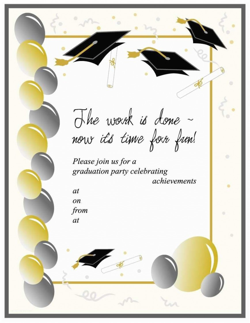 007 Beautiful Graduation Invitation Template Free Example  Kindergarten Party For Photoshop Card Maker