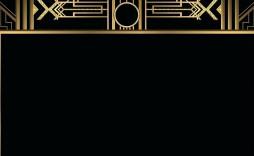 007 Beautiful Great Gatsby Invitation Template Inspiration  Templates Free Download Blank