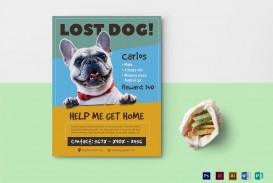 007 Beautiful Lost Dog Flyer Template Design  Printable Missing Pet