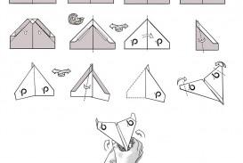 007 Beautiful Printable A4 Paper Plane Design Concept