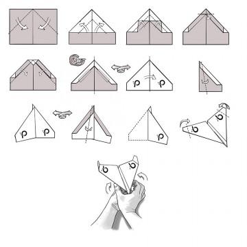 007 Beautiful Printable A4 Paper Plane Design Concept 360