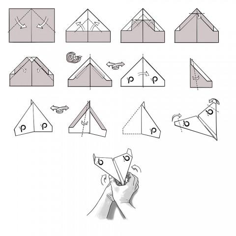 007 Beautiful Printable A4 Paper Plane Design Concept 480
