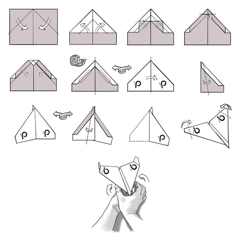 007 Beautiful Printable A4 Paper Plane Design Concept 868