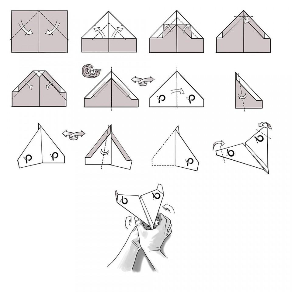 007 Beautiful Printable A4 Paper Plane Design Concept 960