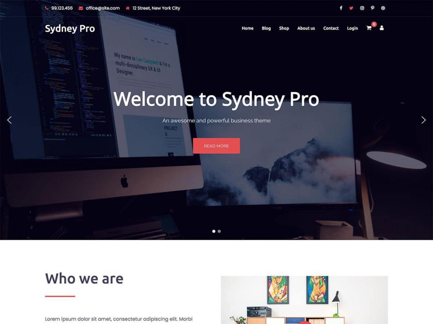 007 Beautiful Professional Busines Website Template Free Download Wordpres Example 1400