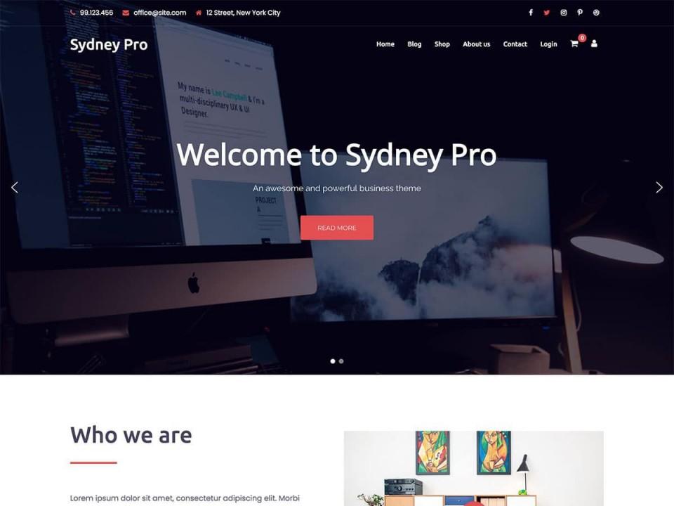 007 Beautiful Professional Busines Website Template Free Download Wordpres Example 960