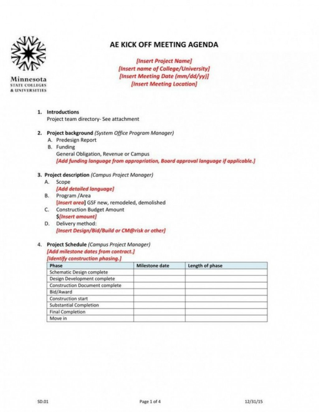 007 Beautiful Project Kickoff Meeting Agenda Example Design  Management TemplateLarge