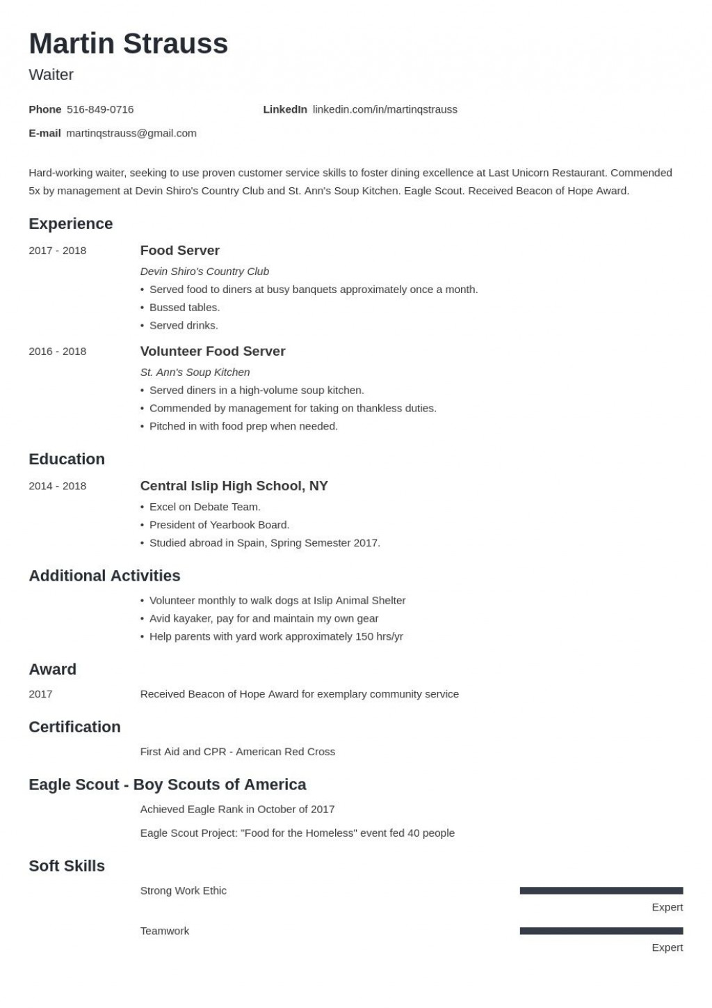 007 Beautiful Resume Template For First Job Example  After College Sample Student TeenagerLarge