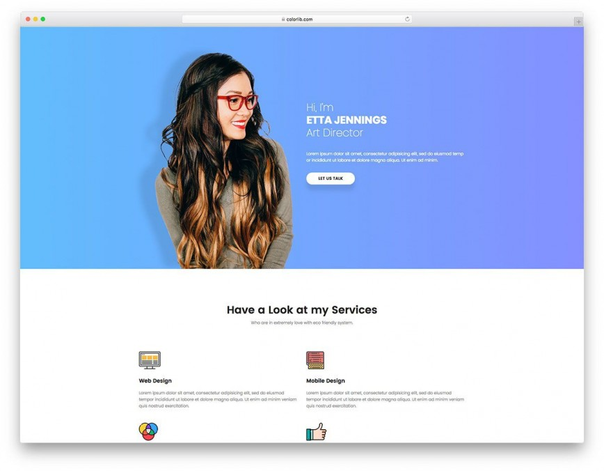 007 Beautiful Resume Website Template Free Example  Personal Download Html Simple