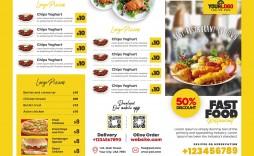 007 Beautiful Tri Fold Menu Template Free Idea  Wedding Tri-fold Restaurant Food Psd Brochure Cafe Download