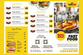 007 Beautiful Tri Fold Menu Template Free Idea  Wedding Tri-fold Restaurant Food Psd Brochure Cafe Download