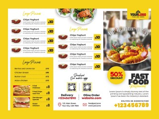 007 Beautiful Tri Fold Menu Template Free Idea  Wedding Tri-fold Restaurant Food Psd Brochure Cafe Download320
