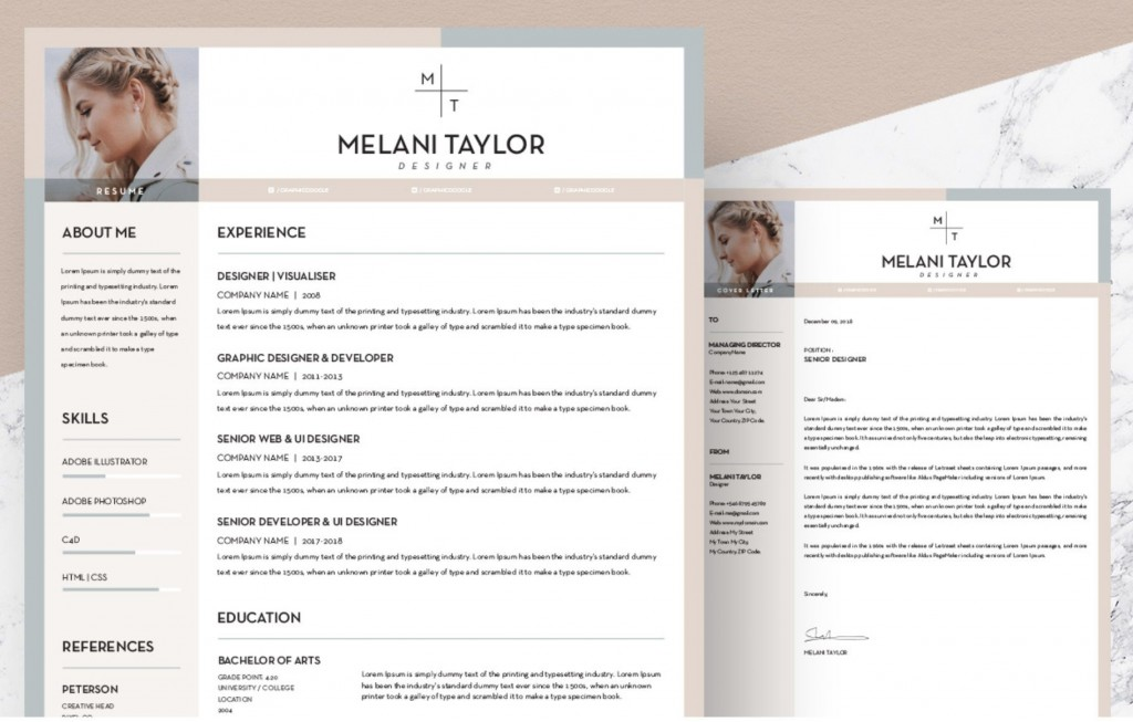 007 Beautiful Unique Resume Template Free Highest Quality  Cool Download Creative Pdf AwesomeLarge