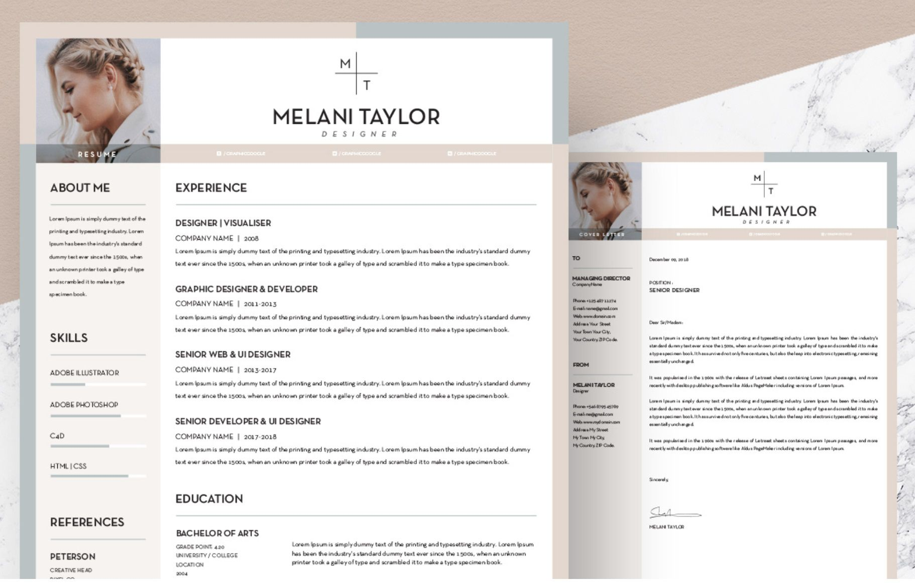 007 Beautiful Unique Resume Template Free Highest Quality  Cool Download Creative Pdf AwesomeFull