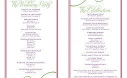 007 Beautiful Wedding Reception Programme Template Sample  Program Microsoft Word Free Downloadable Pdf