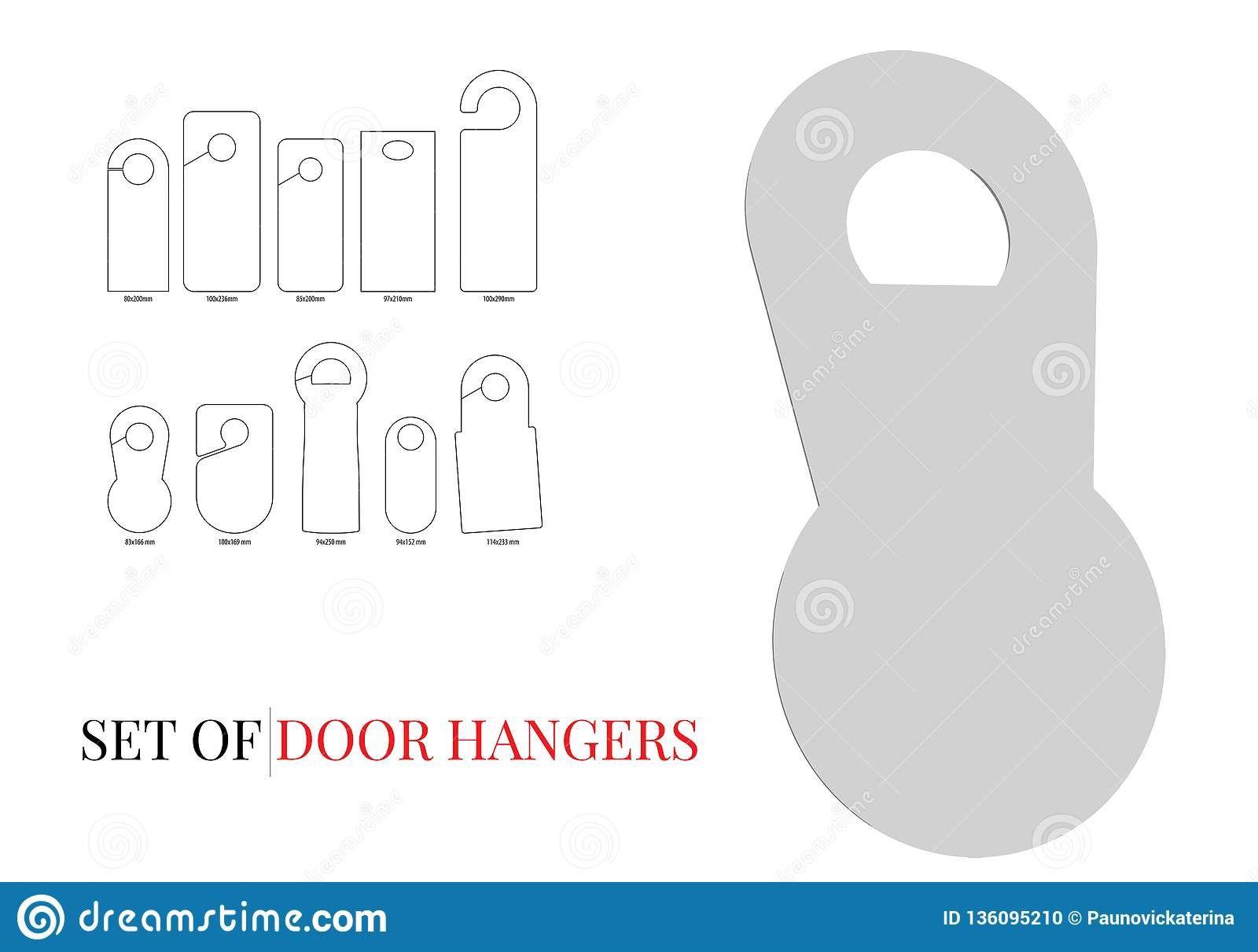 007 Best Blank Door Hanger Template Inspiration  Free Printable Microsoft WordFull