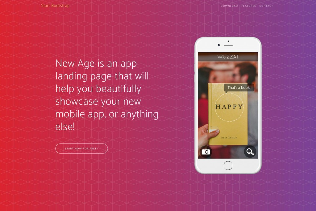 007 Best Bootstrap Mobile App Template High Resolution  Html5 Form 4Large