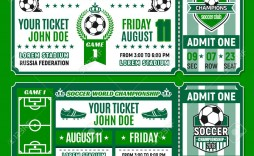 007 Best Football Ticket Invitation Template Free High Def  Printable Party Download