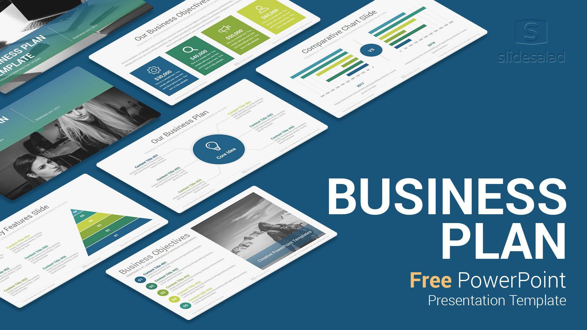 007 Best Free Busines Plan Template Ppt High Definition  2020 Download Startup 30 60 90Full