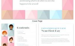 007 Best Free Employee Handbook Template Word Design  Sample In Training Manual