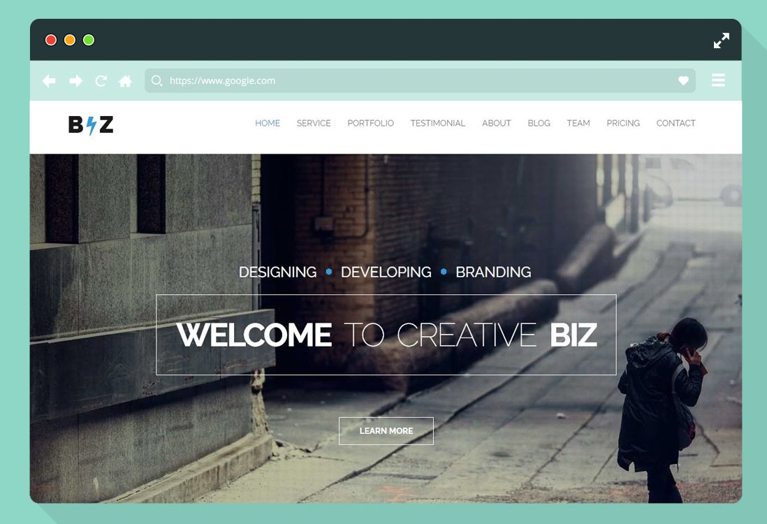 007 Best Free One Page Website Template Download Html With Cs Sample  Css SimpleFull