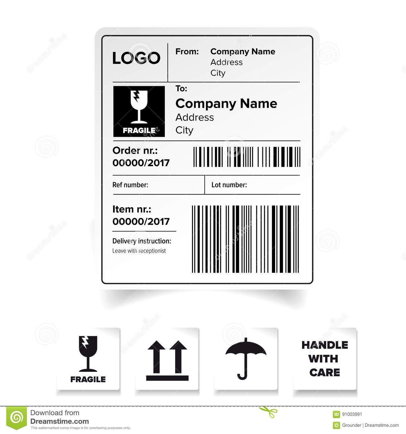 007 Best Free Shipping Label Template Sample  Format Word For MacFull