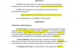 007 Best Joint Venture Agreement Template Doc Design  Uk