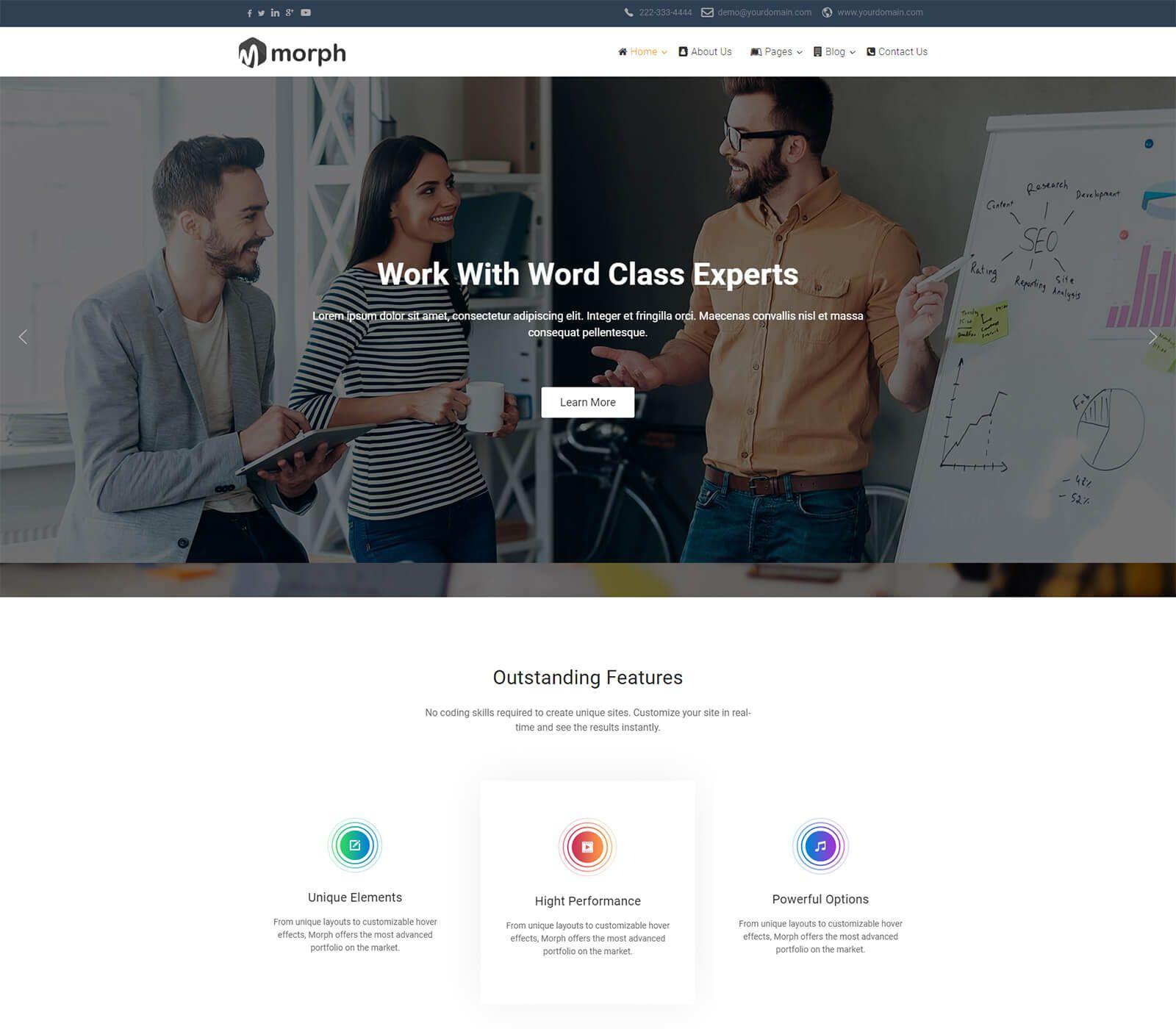 007 Best Joomla Responsive Template Free Highest Clarity  3.0 Download Busines 3Full