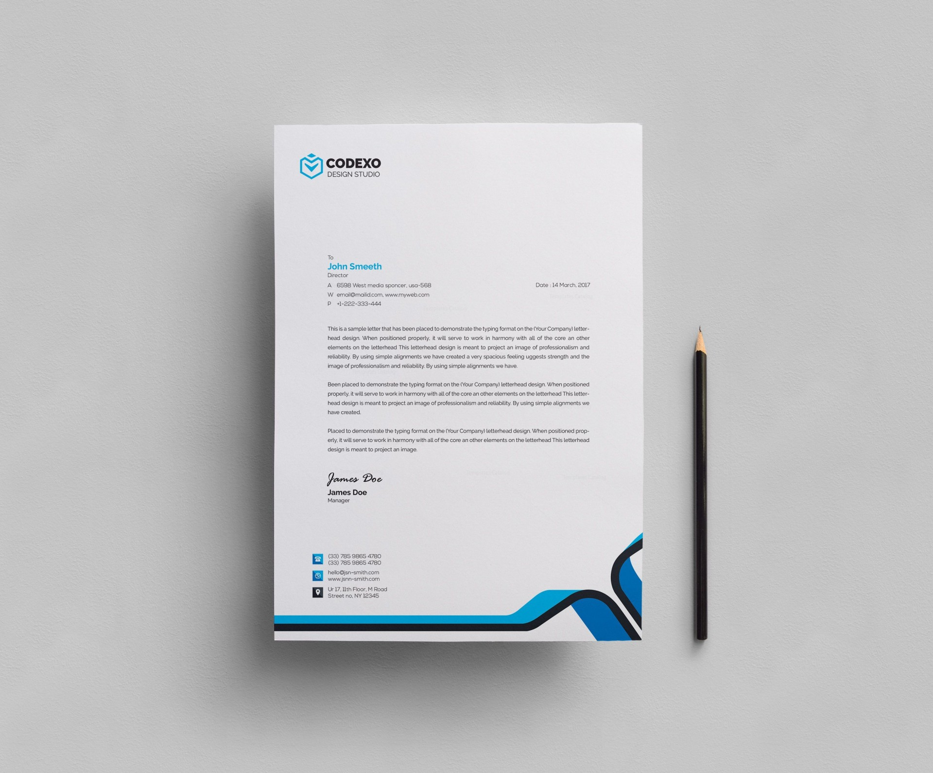 007 Best Letter Pad Design Template  Letterhead Download Ai Free In Word1920