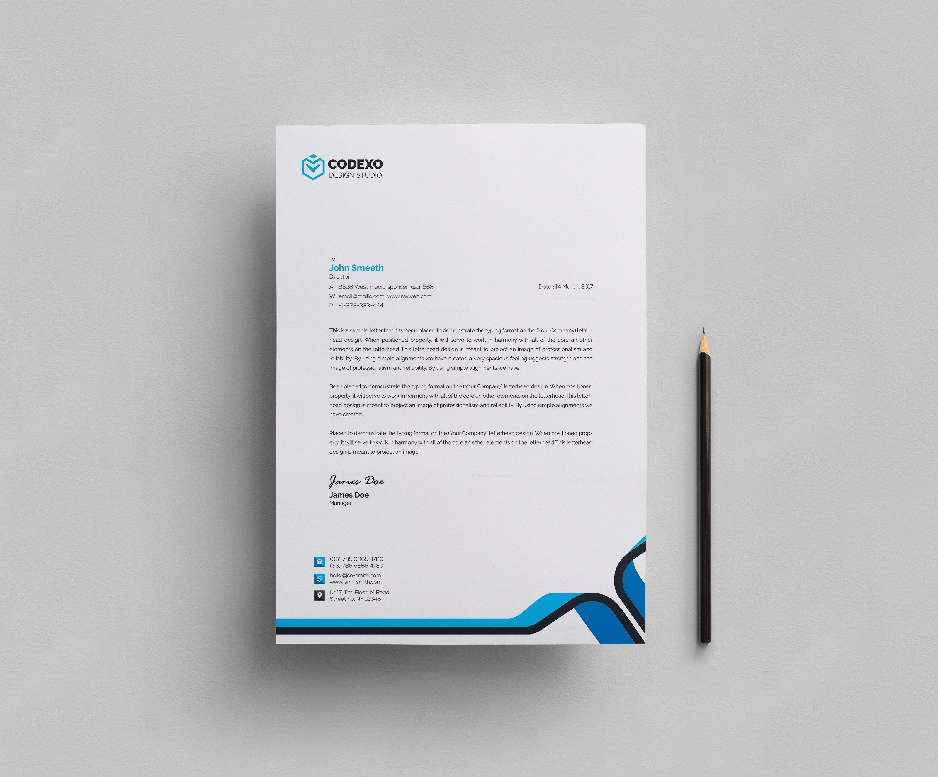 007 Best Letter Pad Design Template  Letterhead Download Ai Free In WordFull