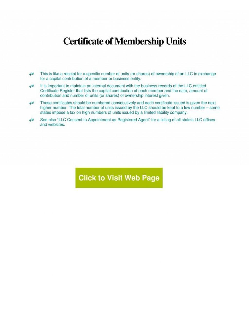 007 Best Llc Membership Certificate Template Image  Interest Free MemberLarge
