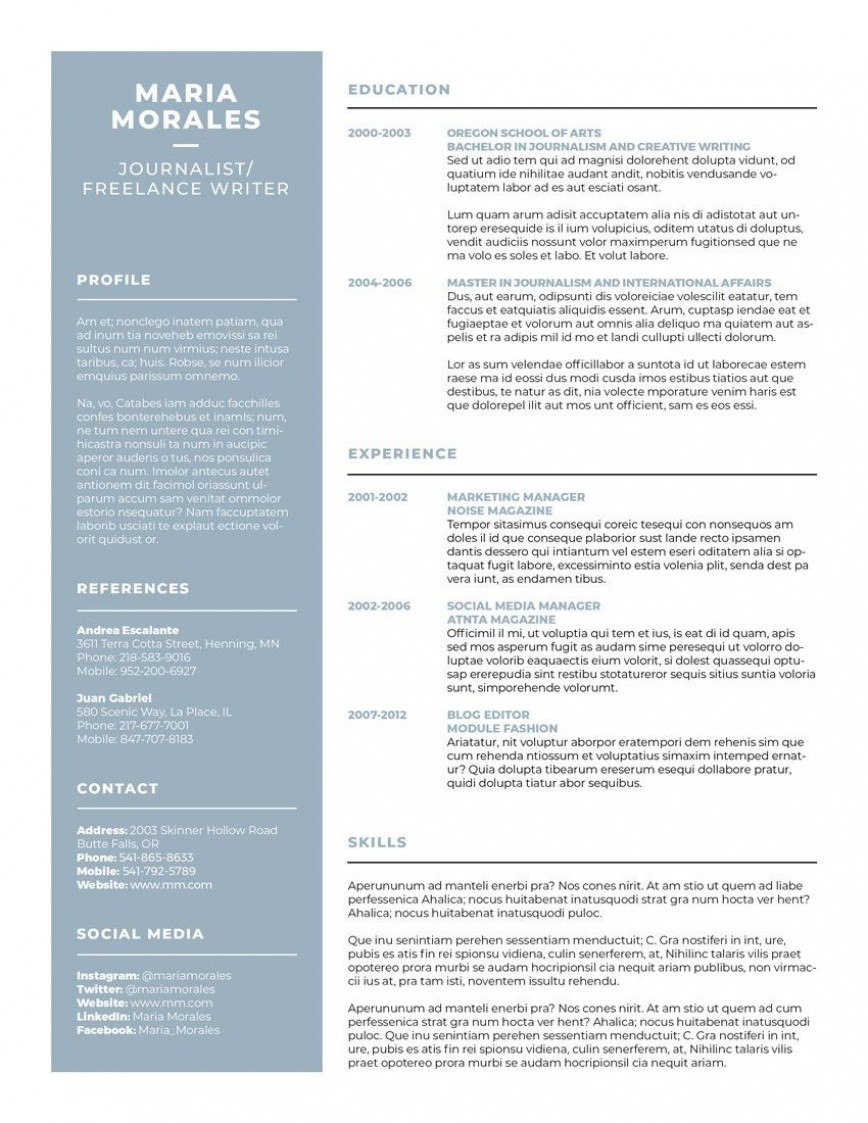 007 Best Make A Resume Template Highest Quality  Create For Free How To Good868