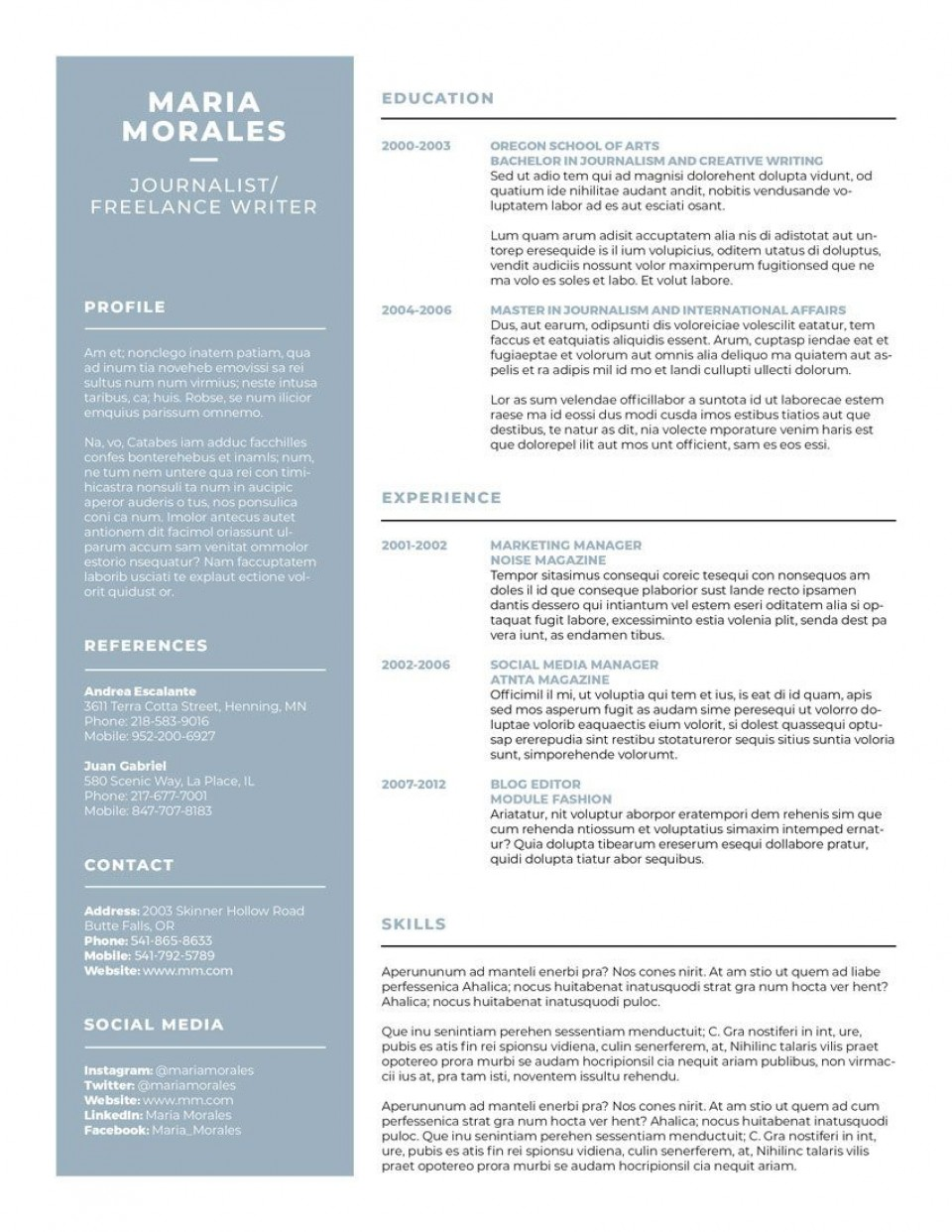 007 Best Make A Resume Template Highest Quality  Create For Free How To Good960
