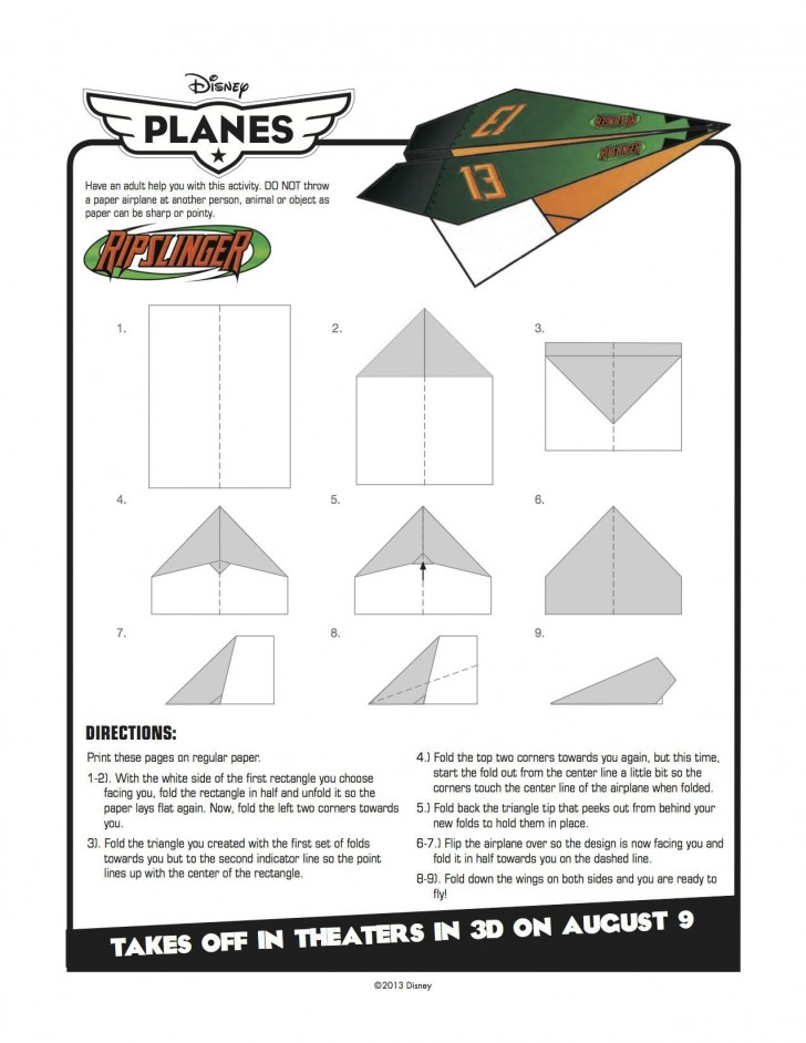 007 Best Printable Paper Airplane Pattern High Definition  Free Plane Design Designs-printable Template728