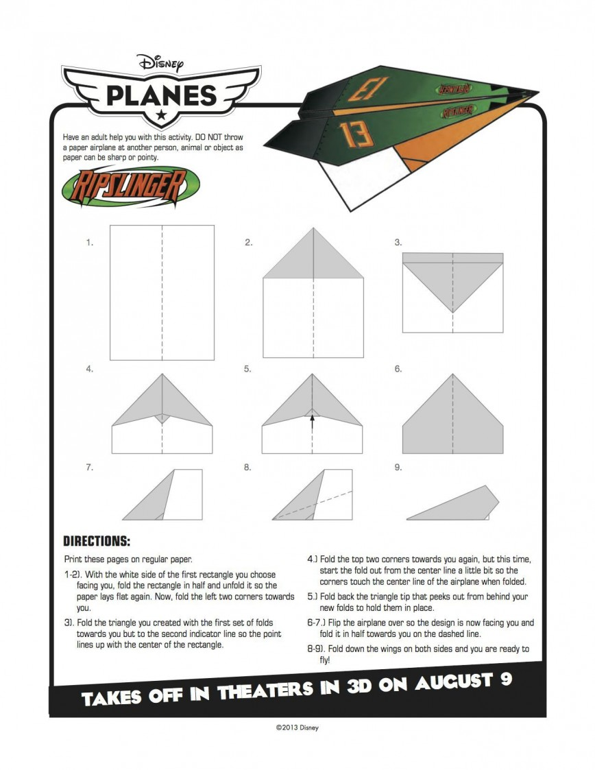 007 Best Printable Paper Airplane Pattern High Definition  Free Plane Design Designs-printable Template868