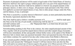 007 Best Promissory Note Word Template High Definition  2007 Document Uk India